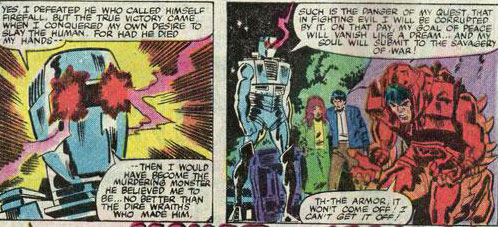 """I would have become the murdering monster he believed me to be."" Words by Bill Mantlo. Pictures by Sal Buscema."