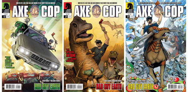 Axe Cop Bad Guy Earth issues 1-3