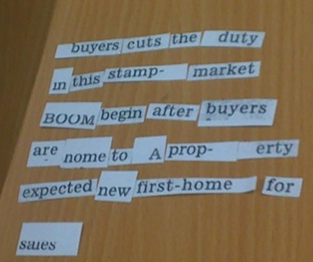 buyer cuts the duty / in this stamp-market / BOOM begin afer buyers / are come to a property / expected new first home for / sales